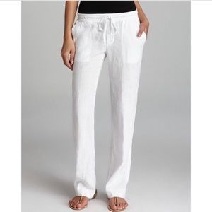 James Perse white linen pants size 1 small